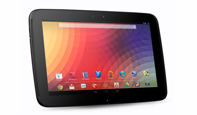 32GB NEXUS 10 RETURNS TO US, UK AND CANADIAN GOOGLE PLAY STORE