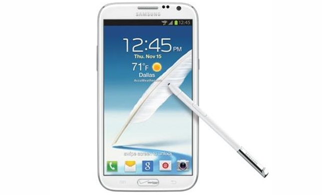 Verizon Galaxy Note 2 receives a new update