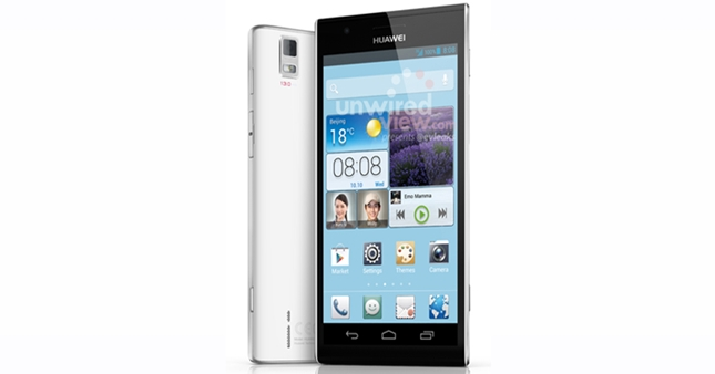 Leaked image of Huawei Ascend P2 is now available