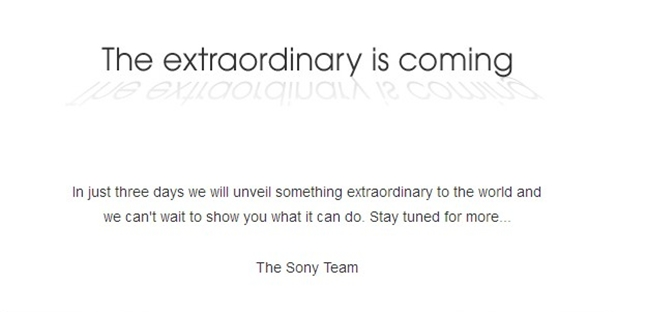 Sony to unveil something
