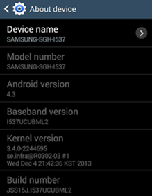 Android 4.3 update for Samsung Galaxy S4 Active