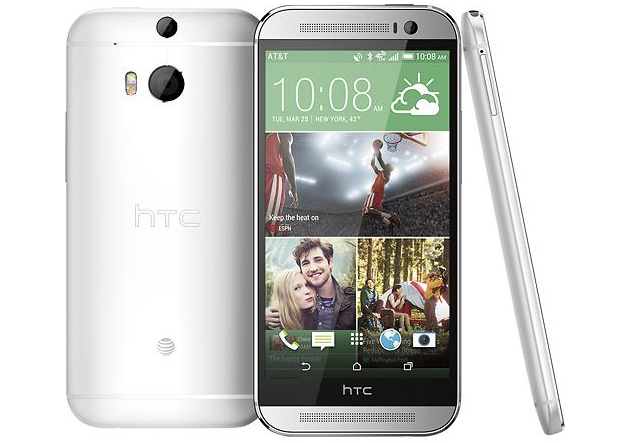 Glacial Silver HTC One (M8)
