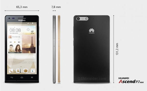Huawei Ascend P7 Mini Leaked