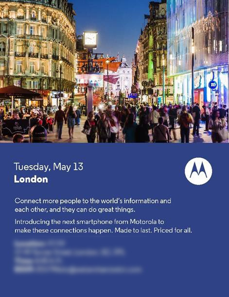 Motorola Press Invites