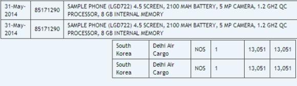 LG G3 Mini Leaked Listing