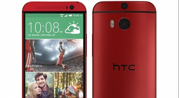 Red HTC One (M8)