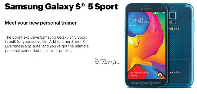 Sprint's Samsung Galaxy S5 Sport
