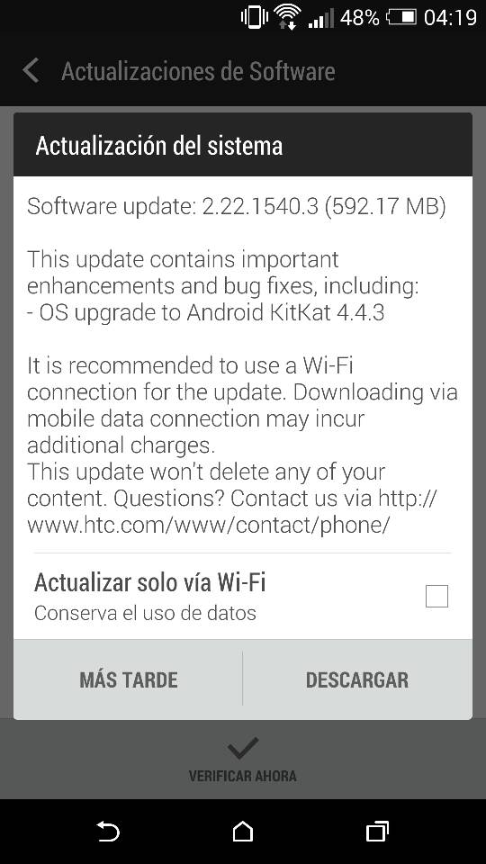 Android 4.4.3 Update for HTC One Developer Edition