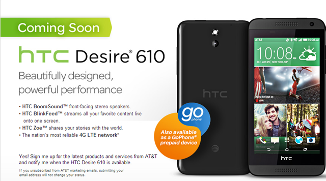HTC Desire 610 AT&T