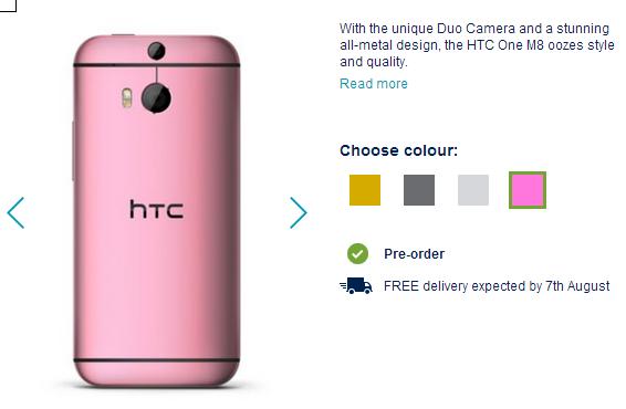 HTC One M8 Pre-order