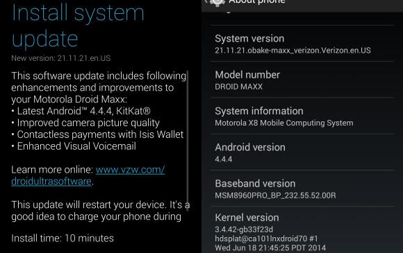 KitKat Update for Motorola DROID Maxx, Ultra and Mini