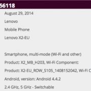Lenovo Vibe X2 WiFi certification