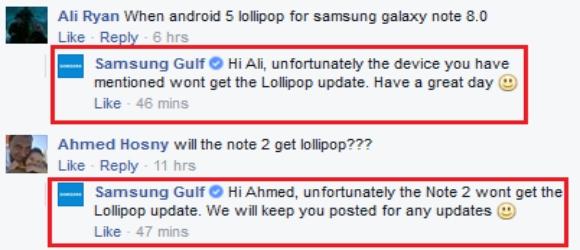 Samsung Galaxy Note 8 Lollipop Update