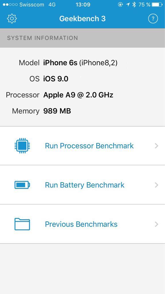 iPhone 6S Geekbench