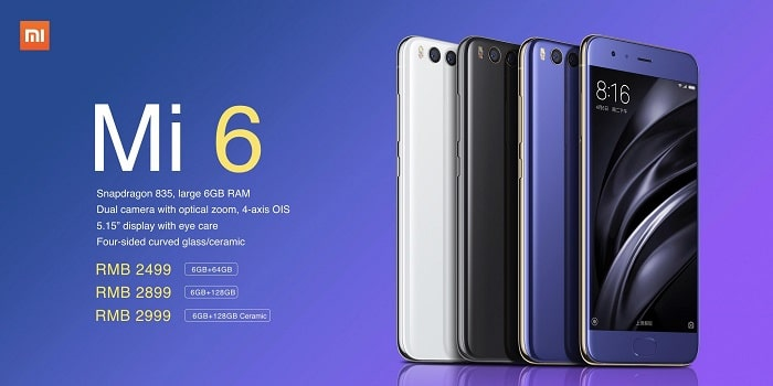 Xiaomi Mi6 will have a total of 11 color options