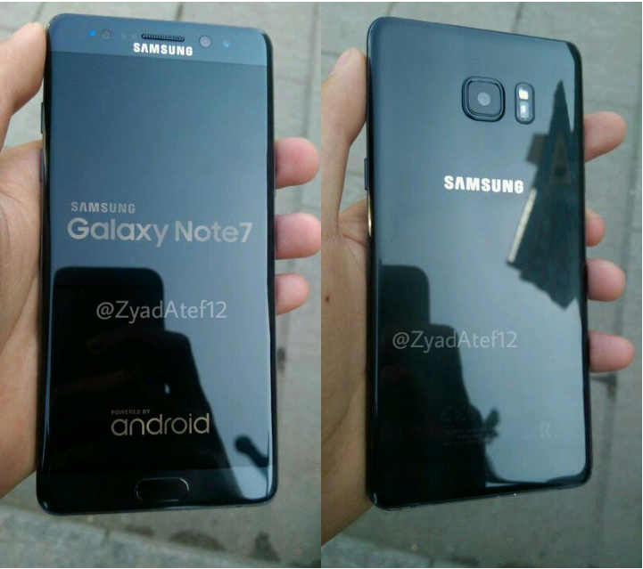 Galaxy Note 7R front rear