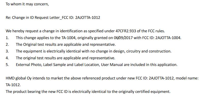 Nokia 9 FCC