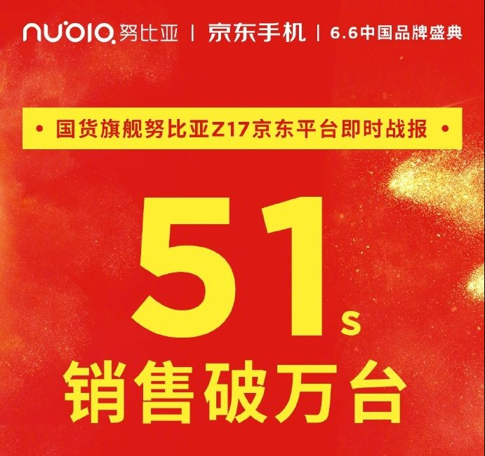 Nubia Z17 sold out quickly during its first flash sale
