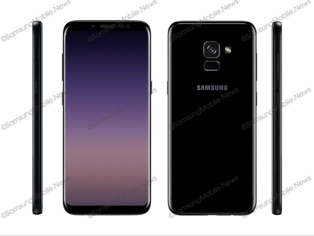 Samsung Galaxy A5, A7 (2018) Render