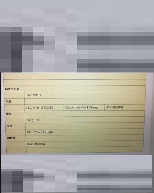 Sony Xperia XZ2 Leaked Specs 1