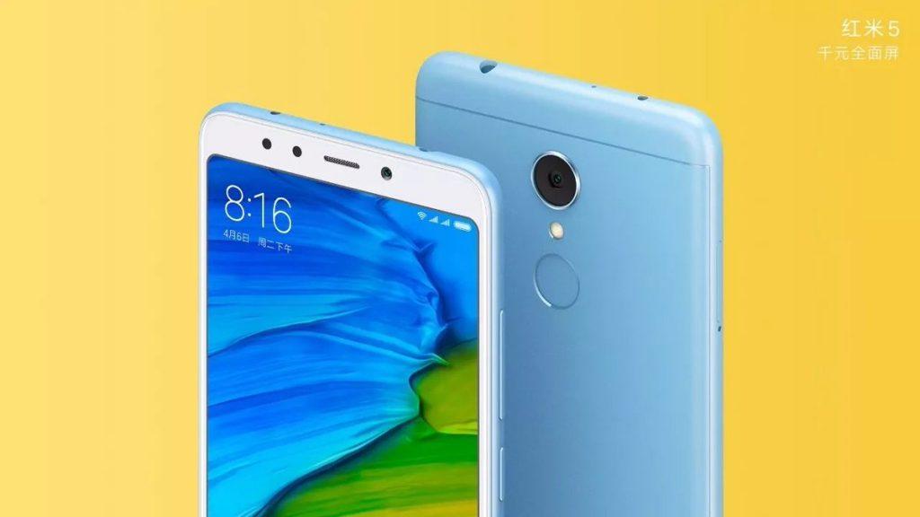 Xiaomi Redmi 5 official renders