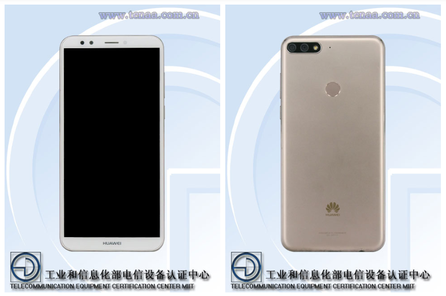 Huawei Enjoy 8 TENAA Front and Rear