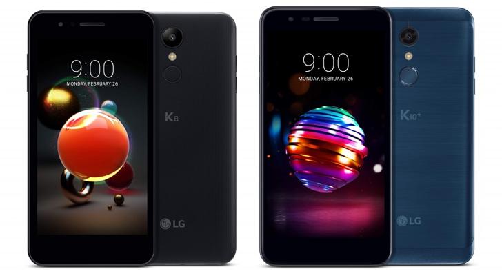 LG K8 (2018) and LG K10 (2018)