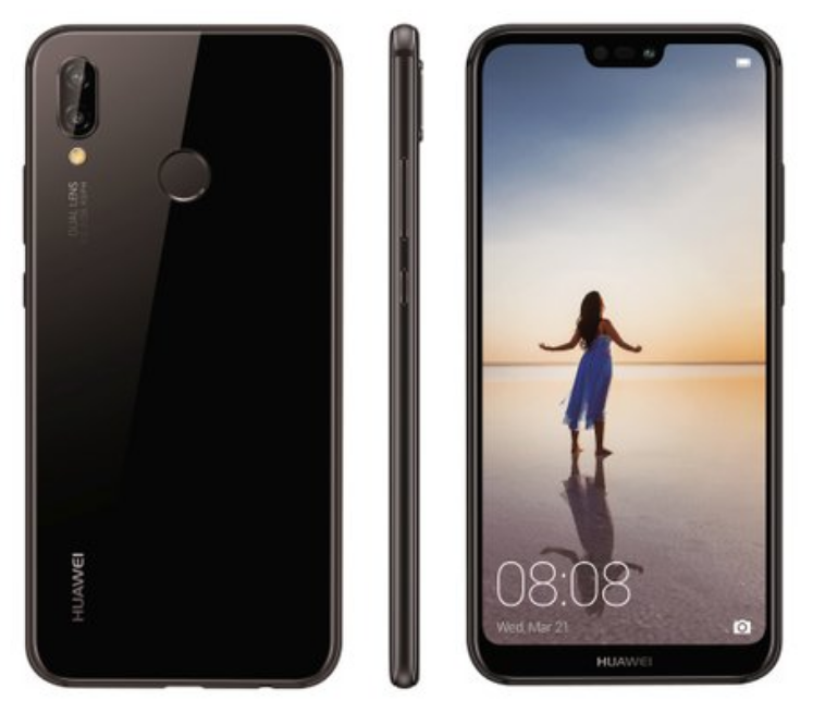 Huawei P20 Lite Official Renders Black