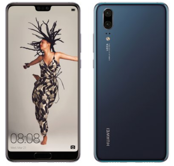 Huawei P20 Official Renders Dark Blue