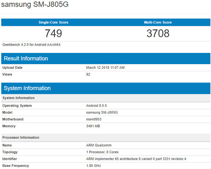 Samsung-Galaxy-J8-Geekbench