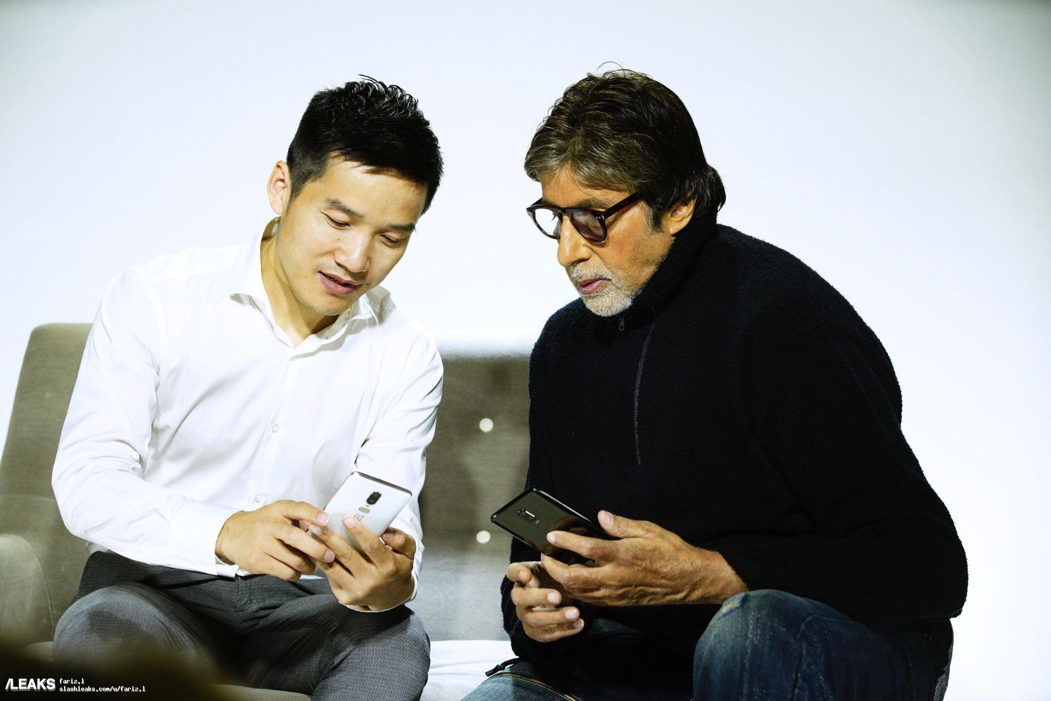 OnePlus 6 Appears with Pete Lau, Amitabh Bachchan