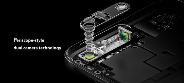 Oppo 5x optical zoom dual camera persicope technology