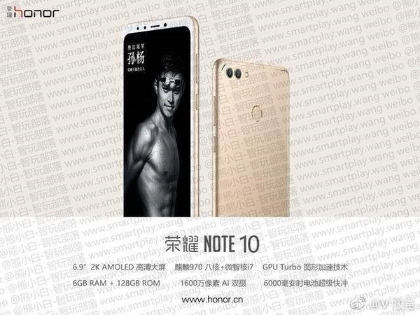 Honor Note 10 Key Specs