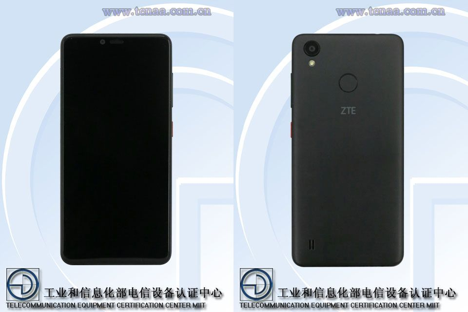 ZTE A0722 TENAA front and rear