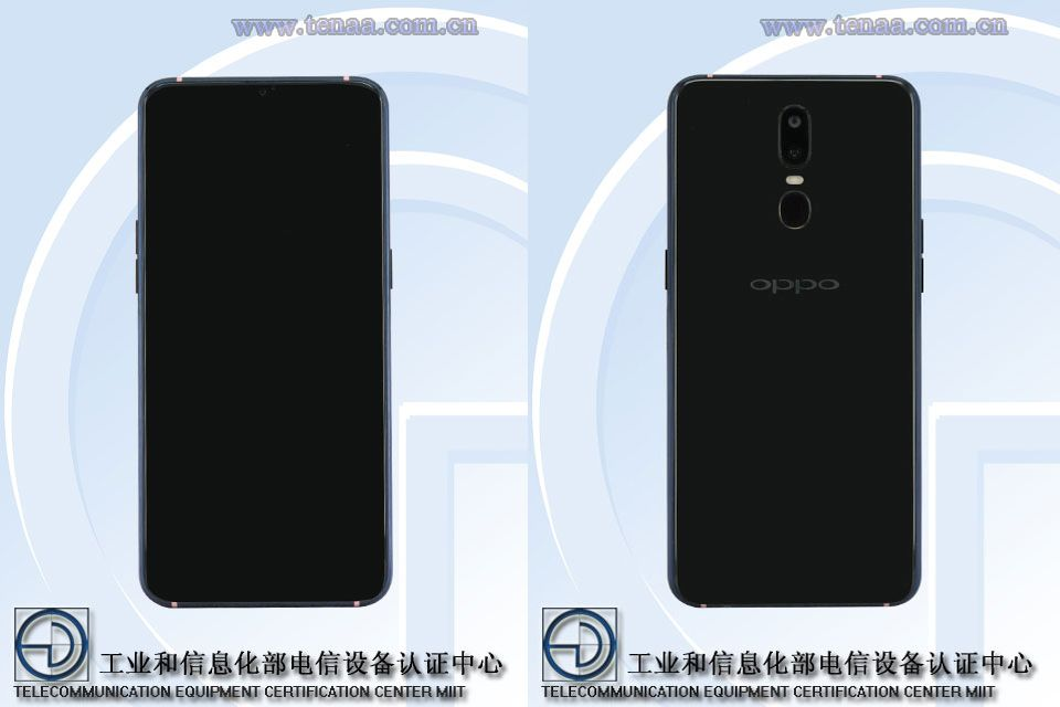 OPPO PAGM00, PAGT00 Front TENAA
