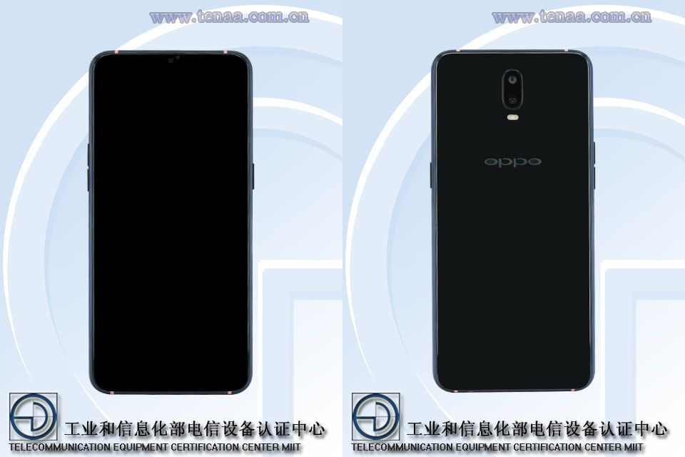 OPPO R17 Front and Rear