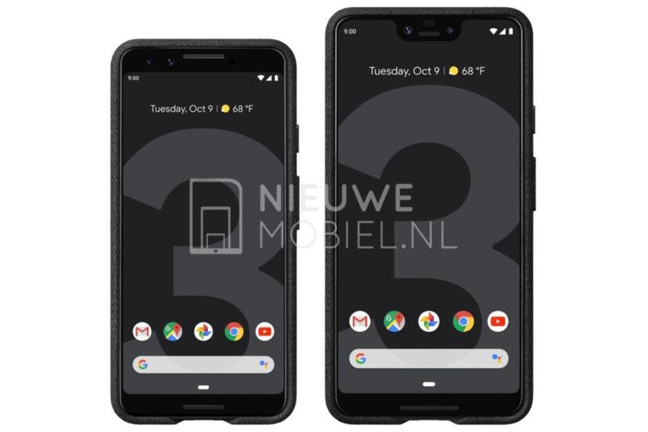 Google Pixel 3 and Pixel 3 XL Renders Front