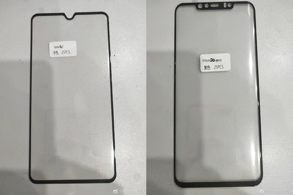 Huawei Mate 20 and Mate 20 Pro display panels