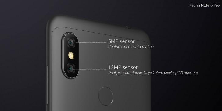 Redmi Note 6 Pro dual rearcamera