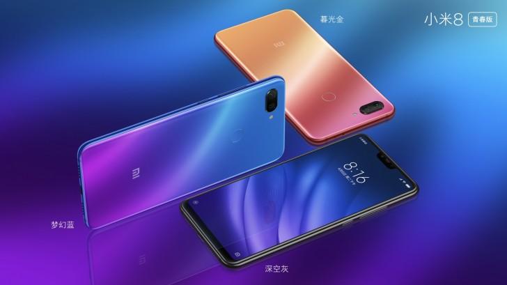 Xiaomi Mi 8 Lite color variants