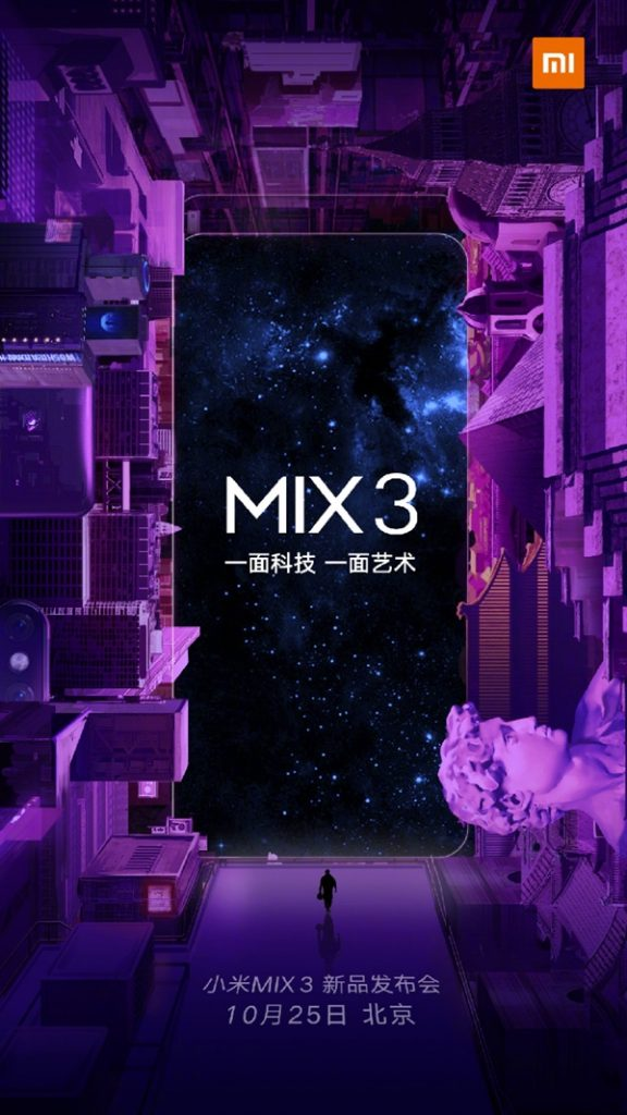 Update - Xiaomi Mi Mix 3 officially arriving on October 25