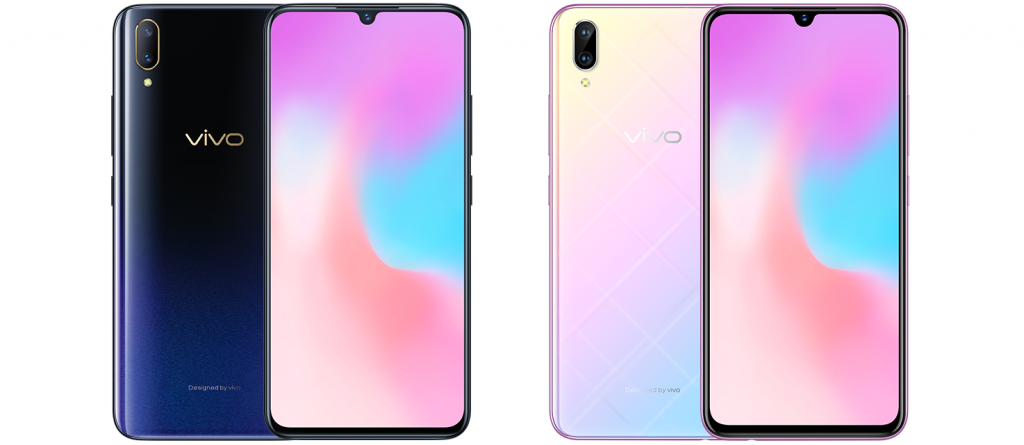 Vivo X21s Starry Night Black and Millennium Pink