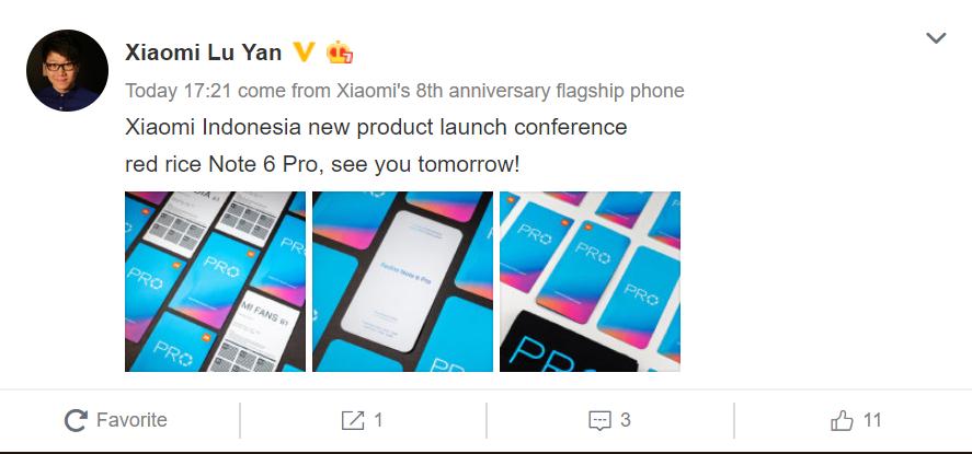Xiaomi Redmi Note 6 Pro Indonesia Launch