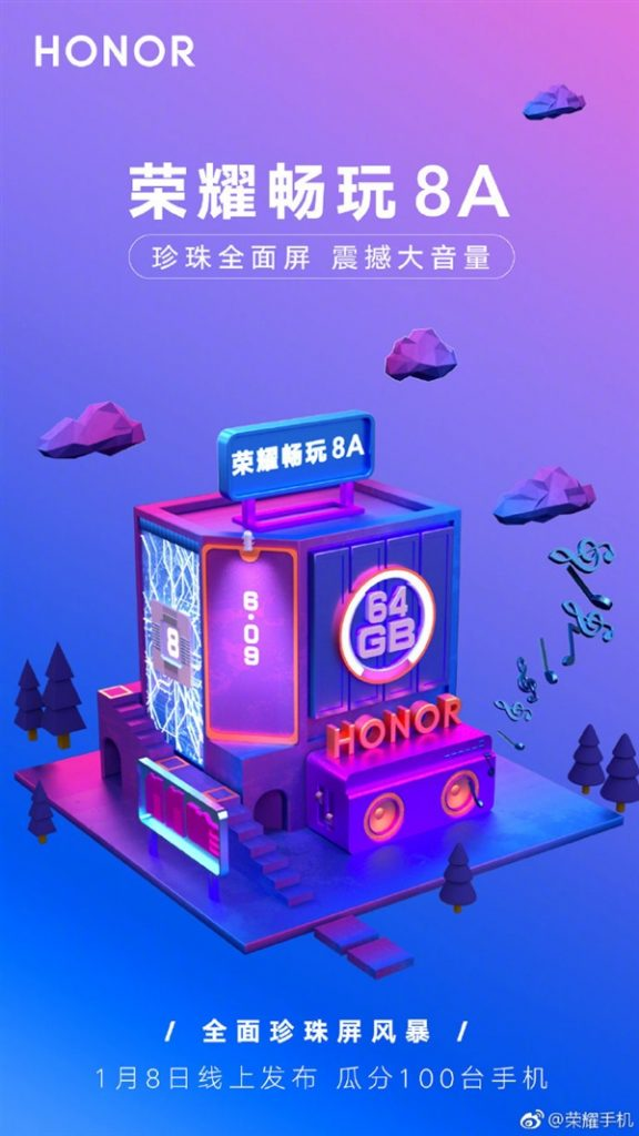 Honor 8A poster