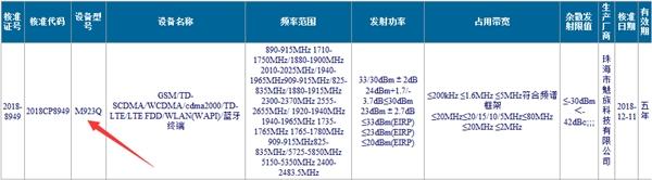 Meizu Note 9 CMIIT Approval