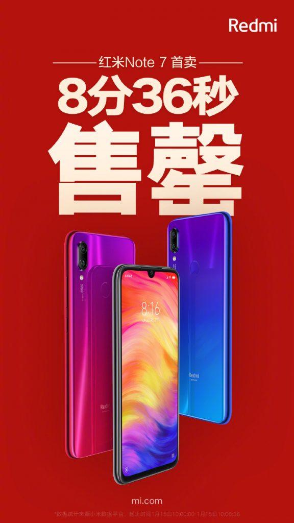 Redmi Note 7 first sale