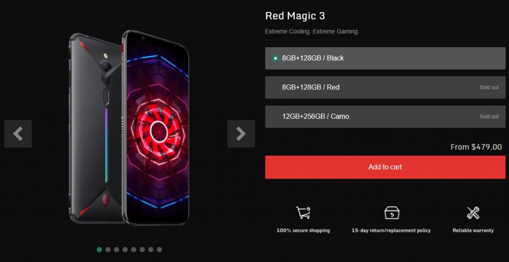 Nubia Red Magic 3 Pricing