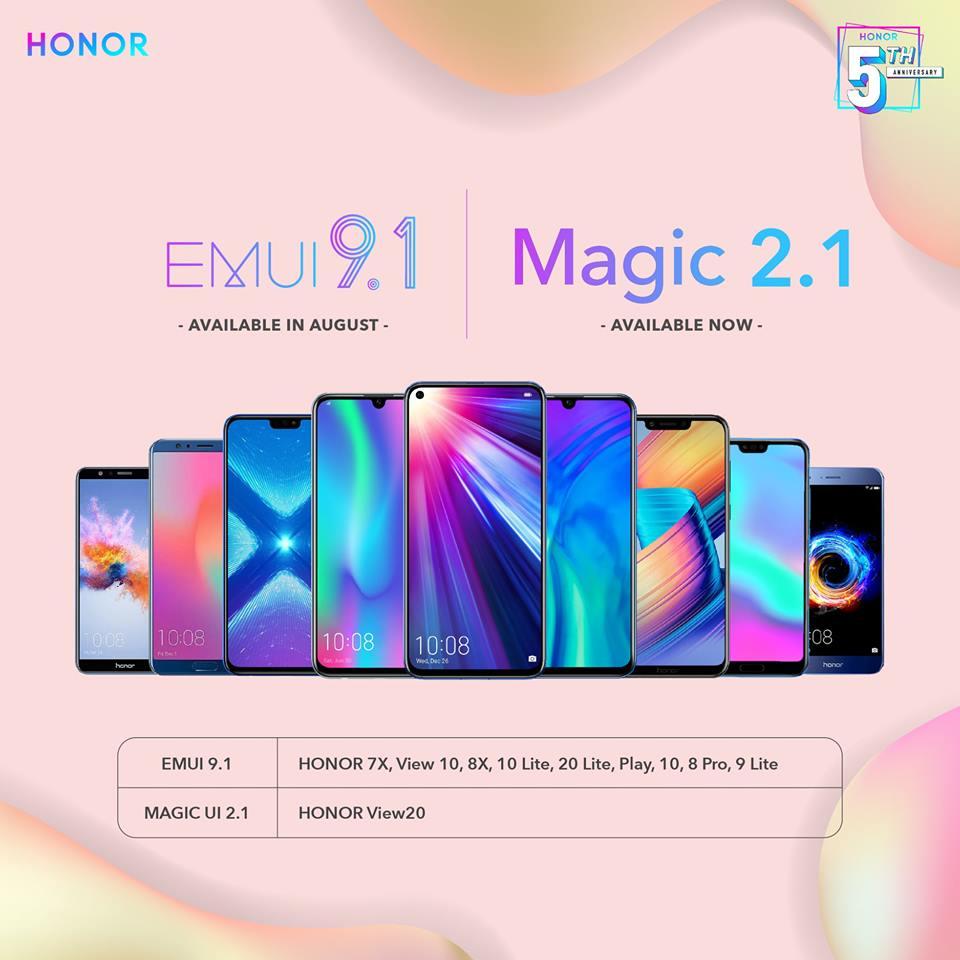Honor EMUI 9.1 Update