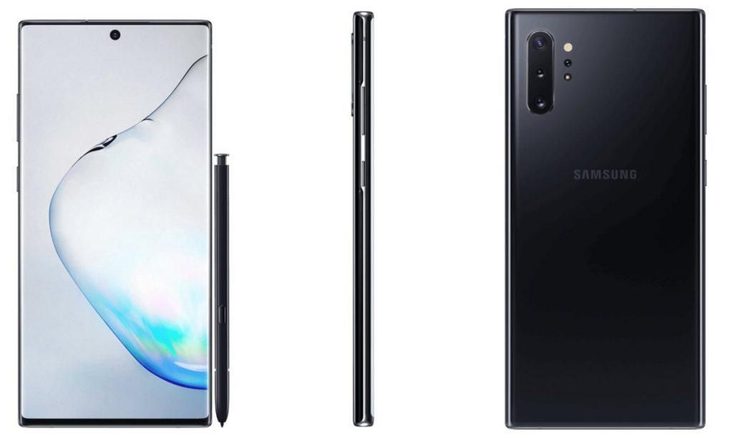 Samsung Galaxy Note 10+ Render