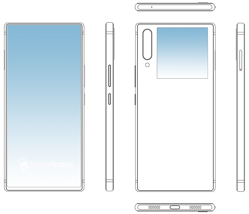 ZTE dual display smartphone design patent